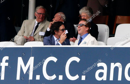 Ben Chaplin and Damian Lewis watches the test match