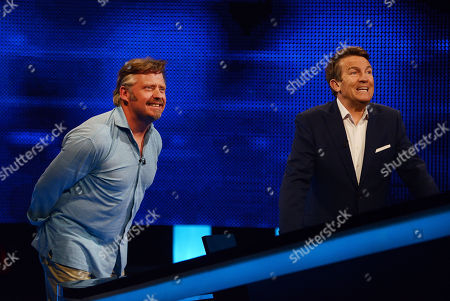 (l-r) Charley Boorman with Host Bradley Walsh facing The Chaser