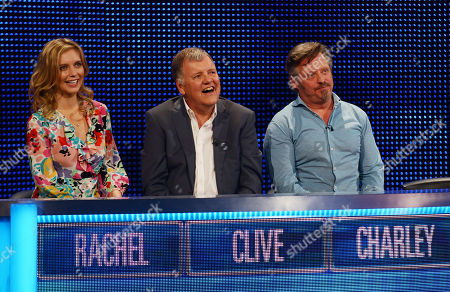 (l-r) Rachel Riley Clive Tyldesley and Charley Boorman