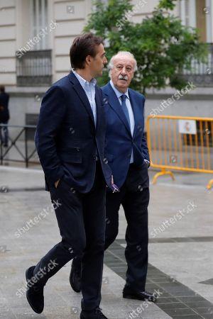 Julen Lopetegui and Vicente del Bosque