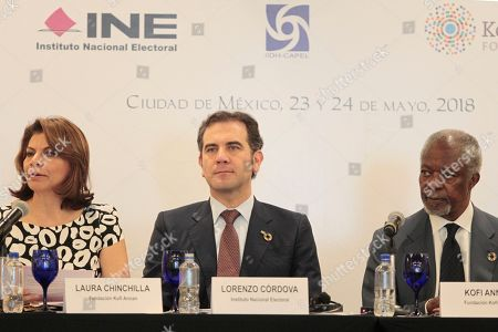 Editorial photo of 'Electoral integrity in Latin America' press conference, Mexico City, Mexico - 24 May 2018