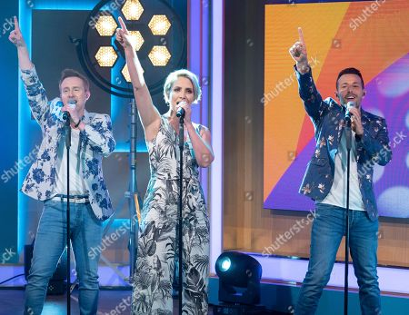 Stock Photo of Steps - Ian Watkins, Claire Richards and Lee Latchford-Evans