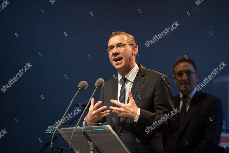 Stock Picture of Israeli Ambassador Mark Regev, with Jonathan M. Goldstein.