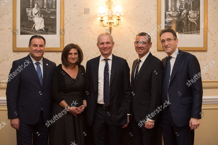 Israel Maimon the President of Development Corporation for Israel Bonds, Chairperson of UJIA Louise Jacobs, Rt Hon David Lidington CBE, Israeli Ambassador Mark Regev, Chair of the Jewish Leadership Council Jonathan M. Goldstein.