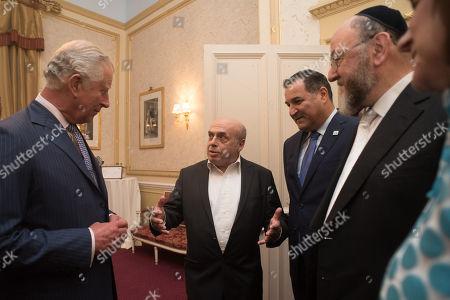 HRH Prince Charles with Natan Sharansky, Israel Maimon, Chief Rabbi Ephraim Mirvis and Valerie Mirvis.