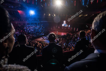 View from The Royal Box. Looking on are Gail and Gerald Ronson, Chief Rabbi Ephraim Mirvis, HRH Prince Charles, Israeli Ambassador Mark Regev.