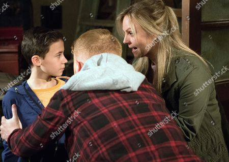 Ep 9469 Wednesday 30th May 2018  Phelan offers Jack Webster, as played by Kyran Bowes, a tenner to cut him free. Gary Windass, as played by Mikey North, and Sarah Platt, as played by Tina O'Brien, return to the builder's yard to find Jack struggling to cut Phelan's bonds.