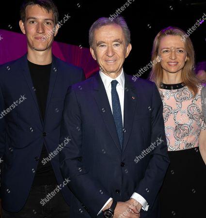 Alexandre Arnault, Bernard Arnault Chairman and CEO LVMH and Delphine Arnault during Vivatech technology fair.