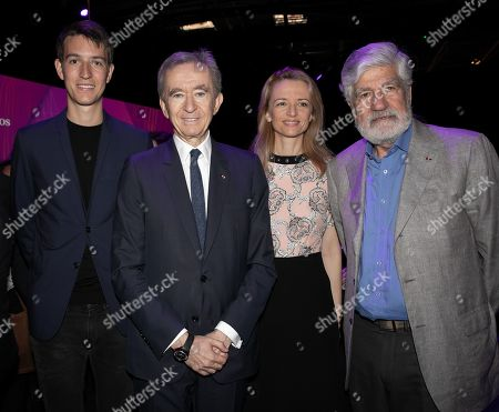Alexandre Arnault, Bernard Arnault Chairman and CEO LVMH, Delphine Arnault and Maurice Levy Chairman of the board Publicis Group during Vivatech technology fair.