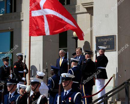 Stock Image of Jim Mattis, Claus Hjort Frederiksen. Secretary of Defense Jim Mattis, welcomes Denmark's Minister of Defence Claus Hjort Frederiksen, at the Pentagon