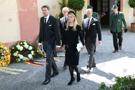 Hubertus Prince of Saxony Coburg and Gotha, wife, Princess Kelly