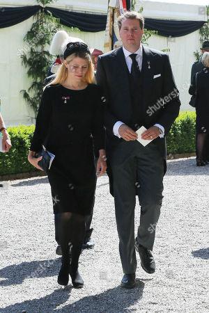 Hubertus Prince of Saxony Coburg and Gotha, wife, hereditary princess Kelly