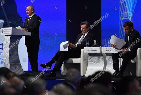 Editorial image of St. Petersburg International Economic Forum, Russian Federation - 25 May 2018