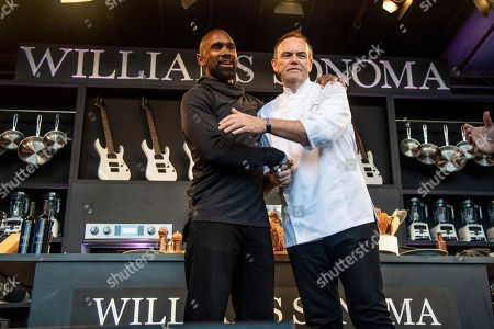 Charlie Palmer, Charles Woodson. Charlie Palmer, left, and Charles Woodson seen at the Williams Sonoma Culinary stage at the Bottle Rock Napa Valley Music Festival at Napa Valley Expo, in Napa, Calif