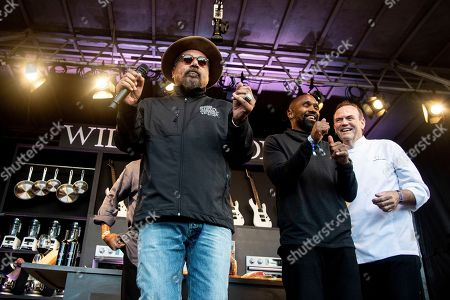 George Lopez, Charlie Palmer, Charles Woodson. George Lopez, from left, Charlie Palmer, Charles Woodson seen at the Williams Sonoma Culinary stage at the Bottle Rock Napa Valley Music Festival at Napa Valley Expo, in Napa, Calif