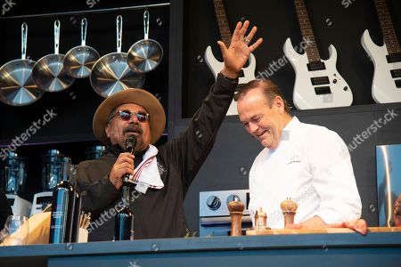 George Lopez, Charlie Palmer. George Lopez, left, and Charlie Palmer seen at the Williams Sonoma Culinary stage at the Bottle Rock Napa Valley Music Festival at Napa Valley Expo, in Napa, Calif