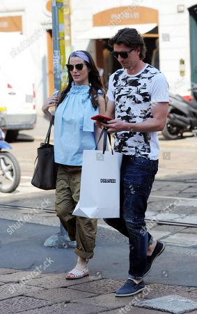 Stock Picture of Riccardo Montolivo and Cristina De Pin