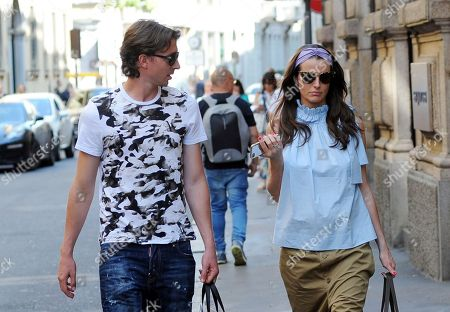 Editorial picture of Riccardo Montolivo and Cristina De Pin out and about, Milan, Italy - 25 May 2018
