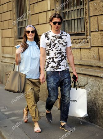 Stock Image of Riccardo Montolivo and Cristina De Pin
