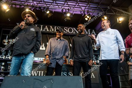 George Lopez, Ronnie Lott, Charles Woodson, Charlie Palmer. George Lopez, Ronnie Lott, Charles Woodson and Charlie Palmer, from left, stand on the Williams Sonoma Culinary stage at the Bottle Rock Napa Valley Music Festival at Napa Valley Expo, in Napa, Calif
