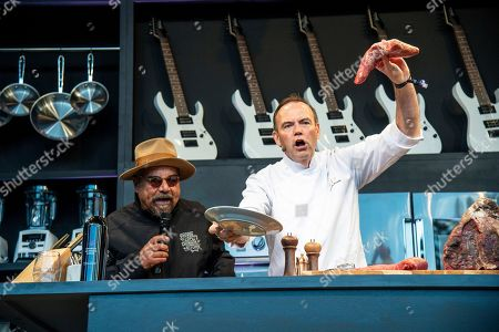 George Lopez, Charlie Palmer. George Lopez, left, appears next to Charlie Palmer on the Williams Sonoma Culinary stage at the Bottle Rock Napa Valley Music Festival at Napa Valley Expo, in Napa, Calif