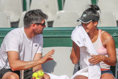 Great Britain's Heather Watson Practice Session Saturday with Her Coach Morgan Phillips