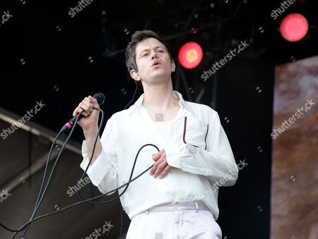 Perfume Genius performs at the Boston Calling Music Festival, in Allston, Mass