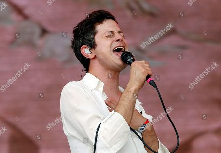 Stock Photo of Perfume Genius performs at the Boston Calling Music Festival, in Allston, Mass