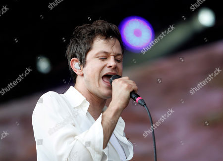 Stock Image of Perfume Genius performs at the Boston Calling Music Festival, in Allston, Mass