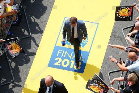BT Sport presenter Austin Healey enters the stadium prior to kick off