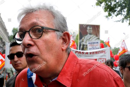 French Communist Party leader Pierre Laurent attends a demonstration against French government reforms in Paris, France, 26 May 2018. Far left political parties and French trade union CGT (General Confederation of Labour) call for a national day of protest against the government policies.