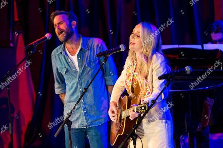 Stock Photo of Waylon Payne and Ashley Monroe perform at Country Music Hall of Fame