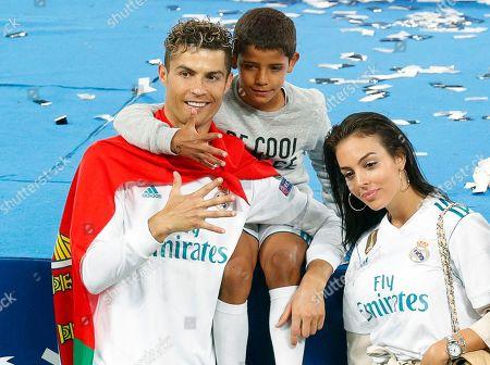 Cristiano Ronaldo, Cristiano Ronaldo Jr. and Georgina Rodriguez