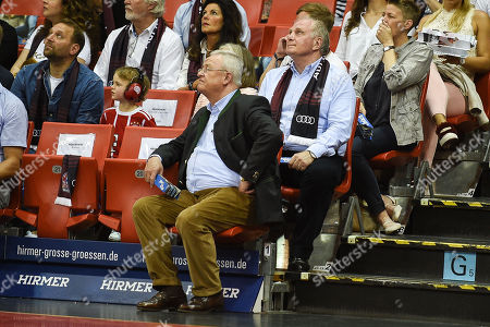 Martin Winterkorn and Uli Hoeness , FC Bayern Muenchen Basketball vs Brose Bamberg, Basketball, semi final ,Spiel 3, 26.05.2018