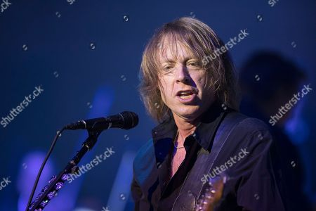 Mick Jones of the British-US rock band Foreigner performs at the Retro Festival in Lucerne, Switzerland, 26 May 2018. The music event runs from 23 to 27 May.