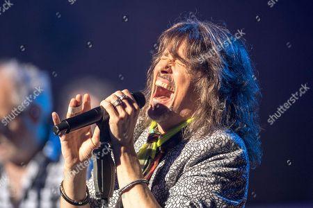 Kelly Hansen of the British-US rock band Foreigner performs at the Retro Festival in Lucerne, Switzerland, 26 May 2018. The music event runs from 23 to 27 May.