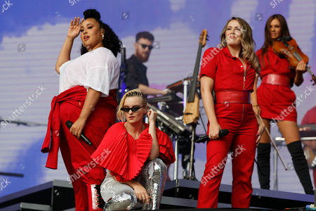 (L-R) Nikki Cislyn, Grace Chatto, Kirsten Joy and Stephanie Benedetti of Clean Bandit