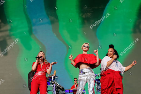 (L-R) Kirsten Joy, Grace Chatto and Nikki Cislyn of Clean Bandit