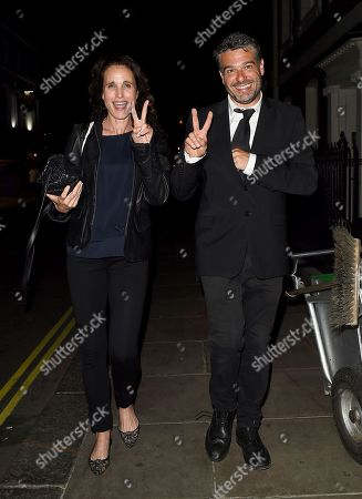 Andie MacDowell out and about, London