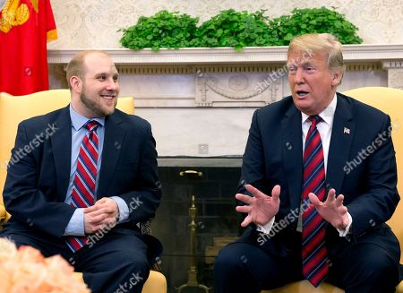 Recently released Joshua Holt at the White House, Washington DC
