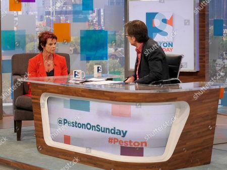 Anne Milton and Robert Peston