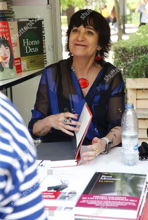 Spanish writer Rosa Montero signs copies of her latest novel during the 77th Madrid Book Fair at the Retiro Park in Madrid, Spain, 27 May 2017. Madrid Book Fair runs from 25 May to 10 June.