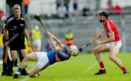 Stock Picture of Tipperary vs Cork. Tipeprary's Billy McCarthy and Mark Ellis of Cork