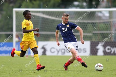 Alan Campbell of Motherwell and Scotland U21's in action during Togo Under-21 vs Scotland Under-21, Tournoi Maurice Revello Football at Stade de Lattre-de-Tassigny on 27th May 2018