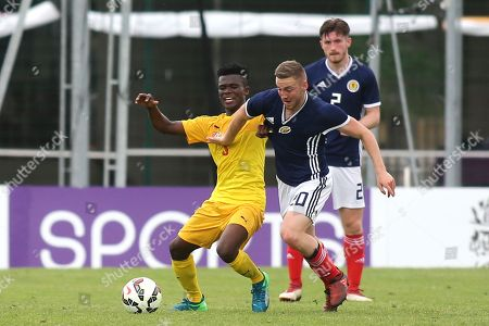 Alan Campbell of Scotland U21's in action during Togo Under-21 vs Scotland Under-21, Tournoi Maurice Revello Football at Stade de Lattre-de-Tassigny on 27th May 2018