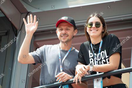 Martin Solveig and Paulina Vega visit stand prior to Monaco F1 Grand Prix