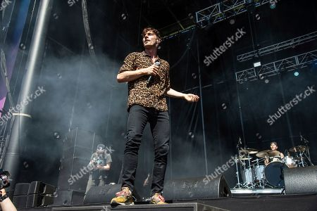 David Boyd of New Politics performs at the Bottle Rock Napa Valley Music Festival at Napa Valley Expo, in Napa, Calif