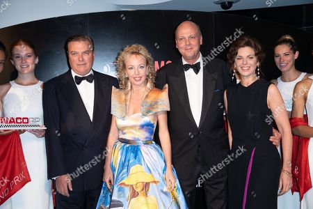Charles and Camilla de Bourbon des Deux-Siciles and Prince Serge de Yougoslavie and Wife