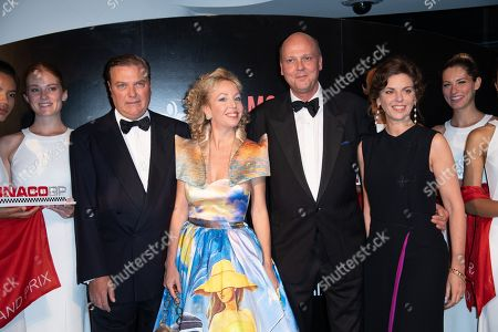 Stock Picture of Charles and Camilla de Bourbon des Deux-Siciles and Prince Serge de Yougoslavie and Wife