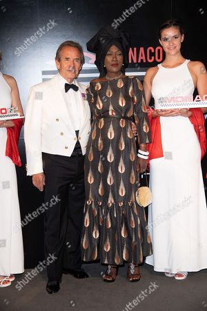 Stock Picture of Former F1 driver, Jacky Ickx and Khadja Nin